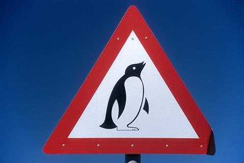 Pinguin-Schild