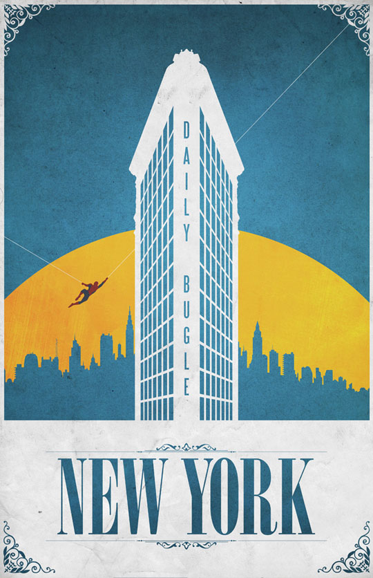 New York Spiderman Poster