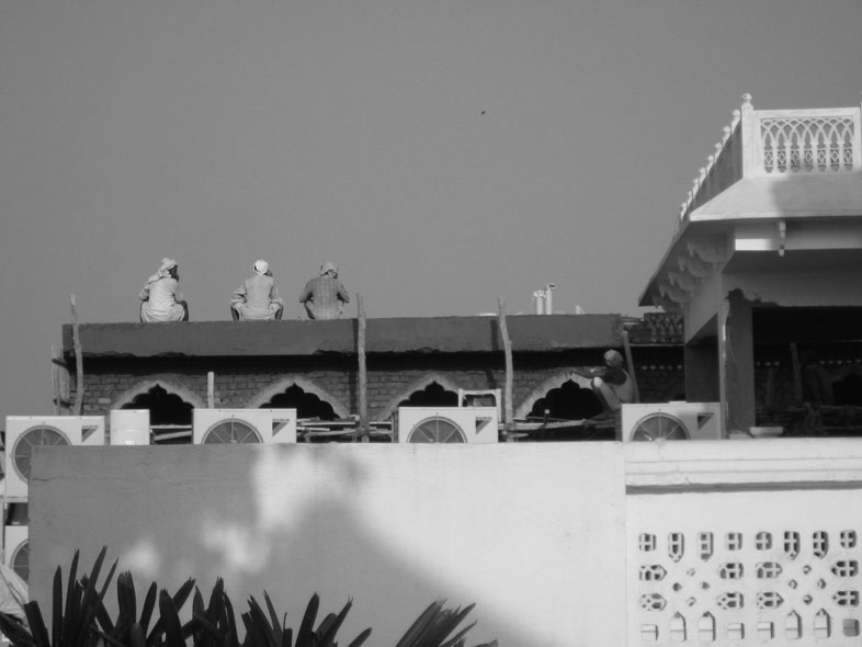 Delhi. Baustelle