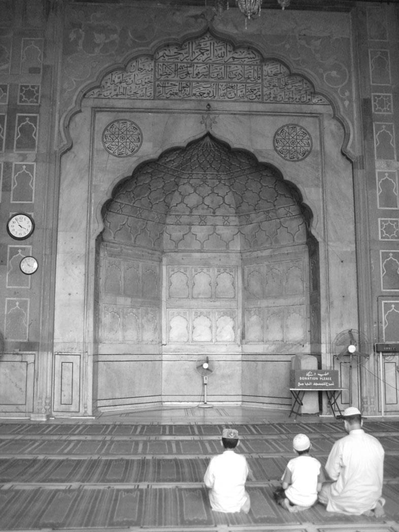 Jama Masjid. Moschee. Delhi