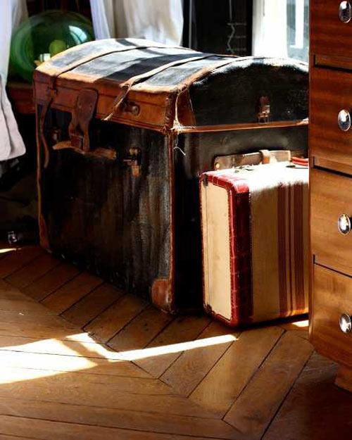 Alte Koffer Deko