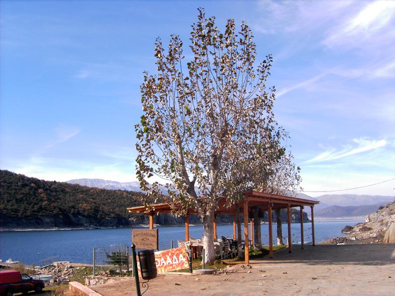 Psarades großer Prespa See