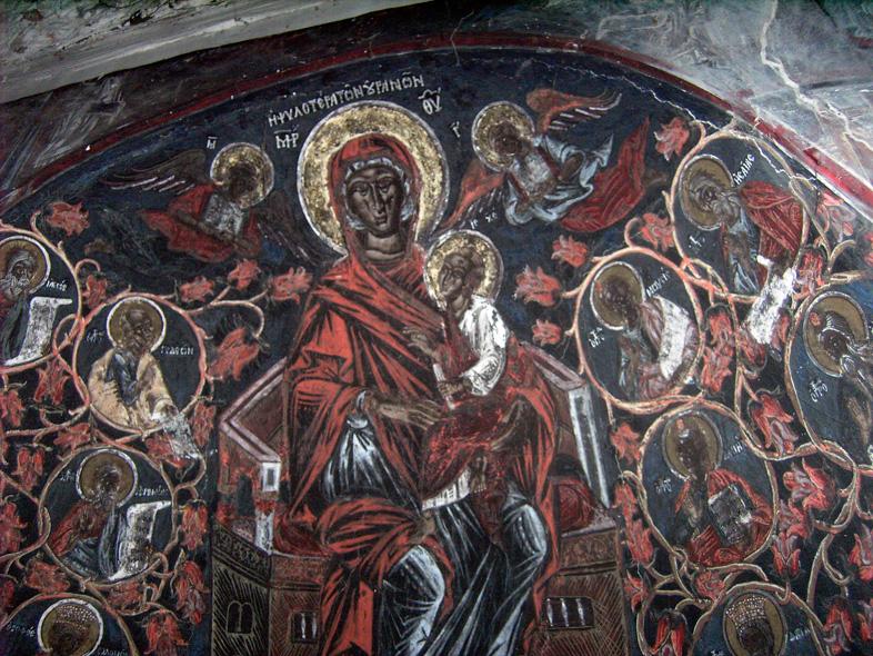 Kastoria. Fresken. Byzantinische Kirche