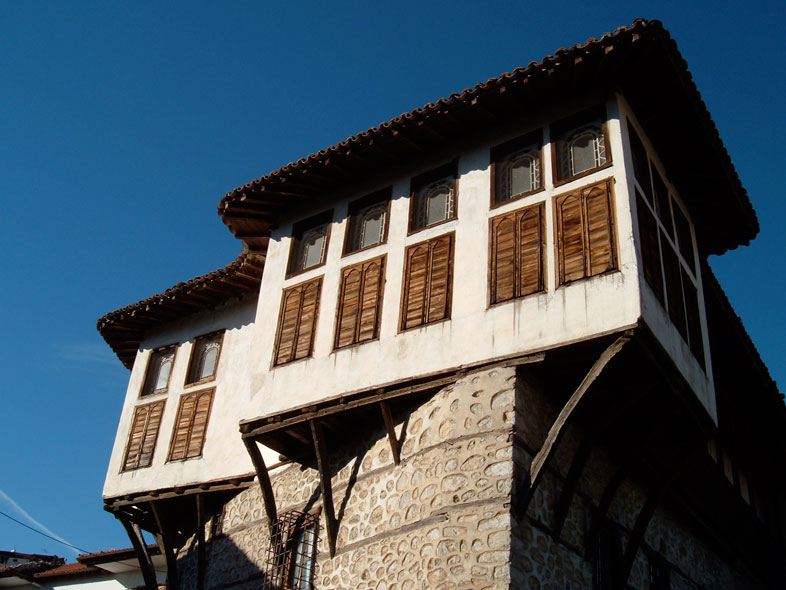 kastoria. traditionelle makedonische Architektur