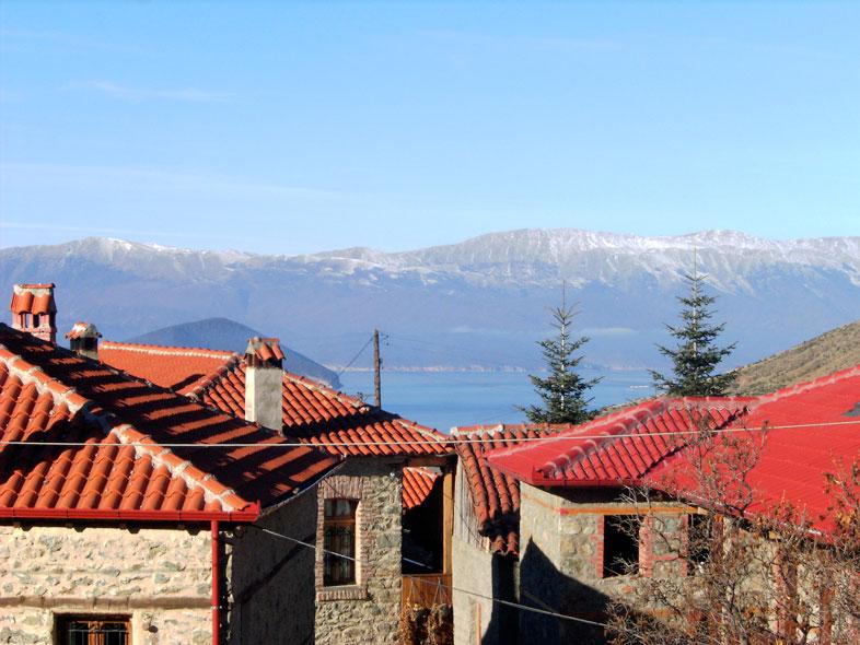 Aussicht vom Hotel Paradosi in Agios Germanos