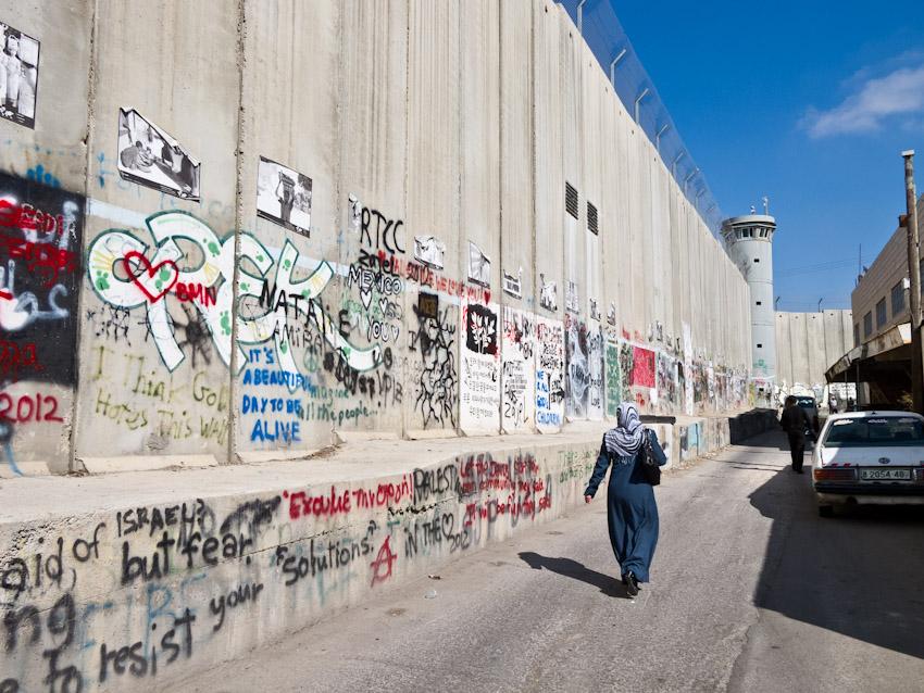 Mauer Westjordanland Streetart