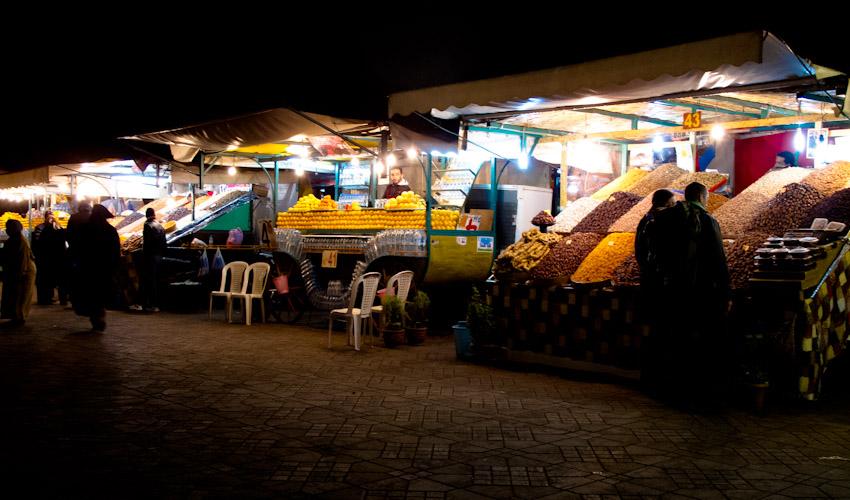 Marrakesch_Basar_nachts