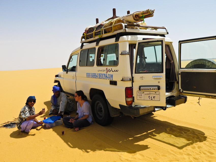 Ägypten Wüste libysche Teepause