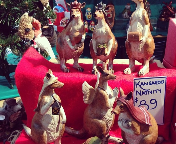 Susi hat in Australien Känguru Krippenfiguren entdeckt.