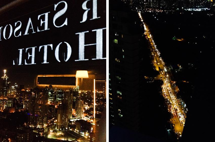 Four Seasons Mumbai Ausblick von der Rooftop-Bar