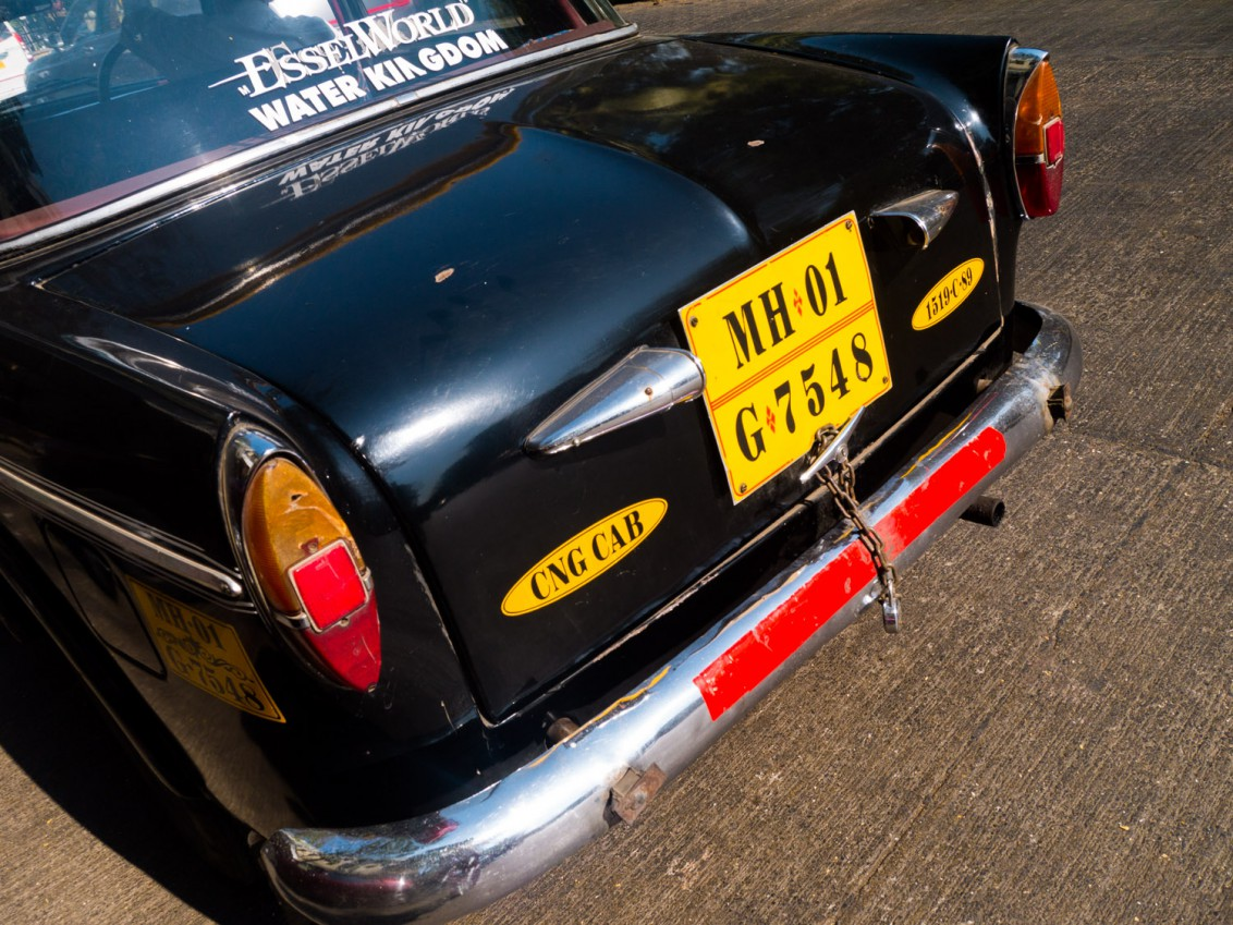 Typisches Taxi in Mumbai