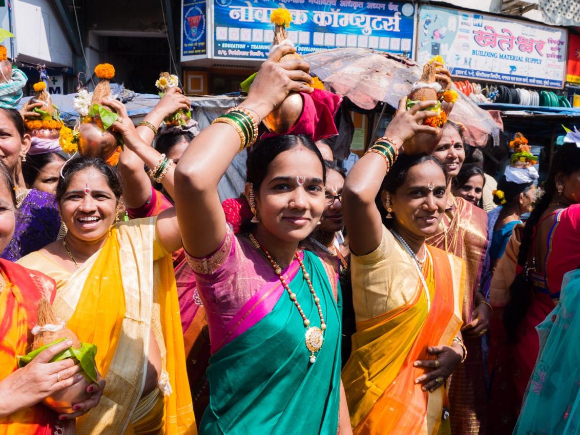Religiöser Umzug in Mumbai