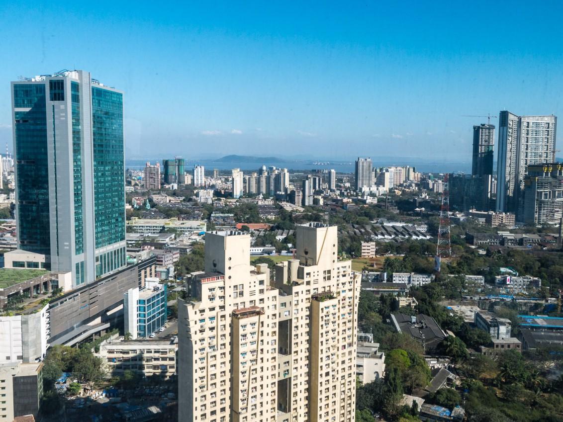 Blick aus dem Four Seasons auf Mumbai Skyline