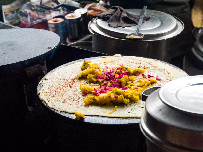 Masala Dosa, typisches Streetfood in Mumbai