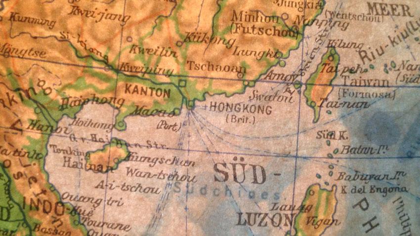 Historischer Globus Asien