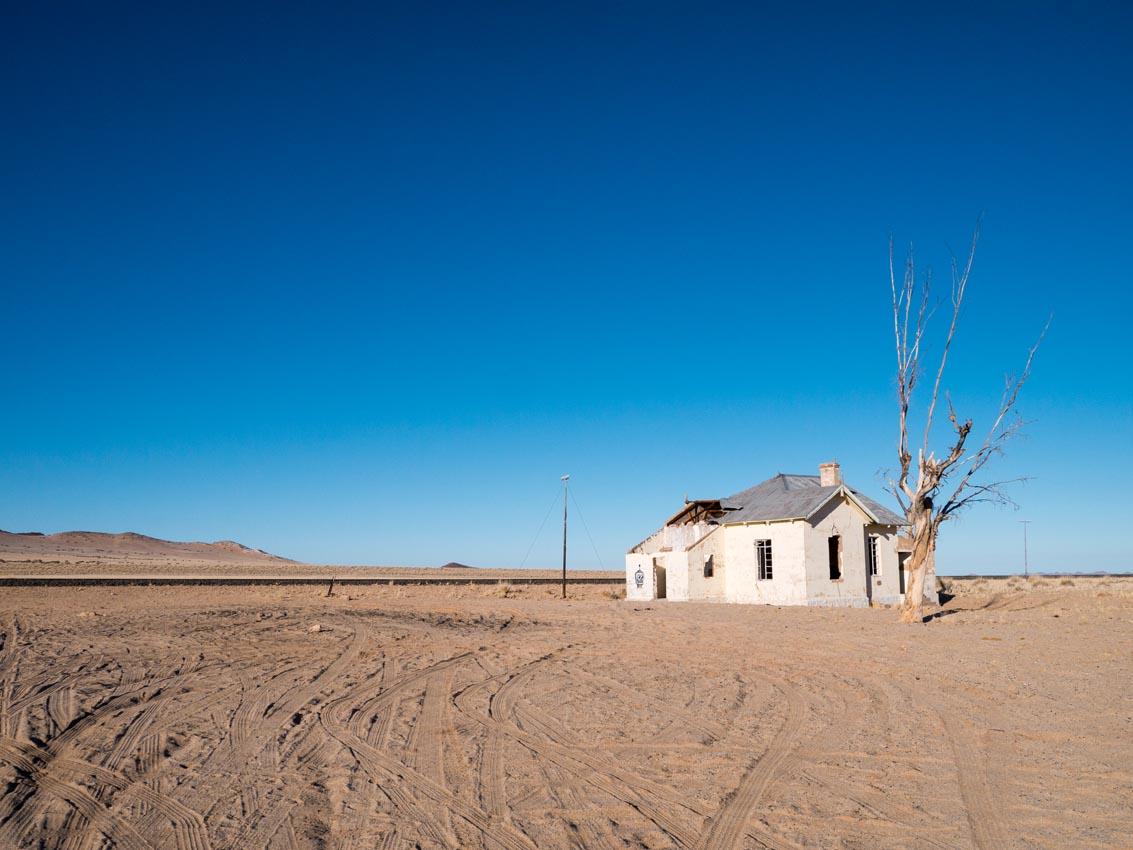 Garub verlassene Bahnstation in Namibia