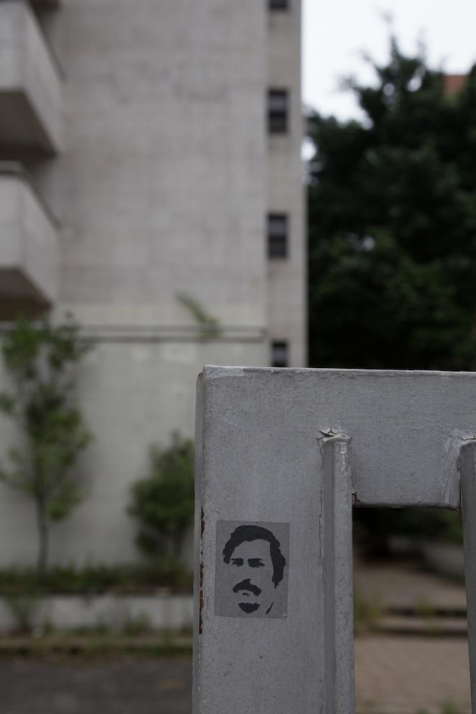 Ein Escobar-Bildchen an seinem damaligen Haus © Deniz Ispaylar