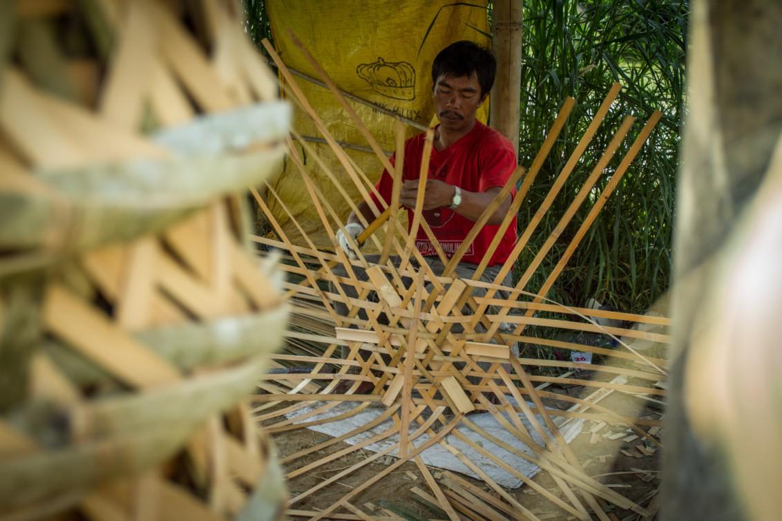 traditionelle Handwerkstechniken auf Sumatra