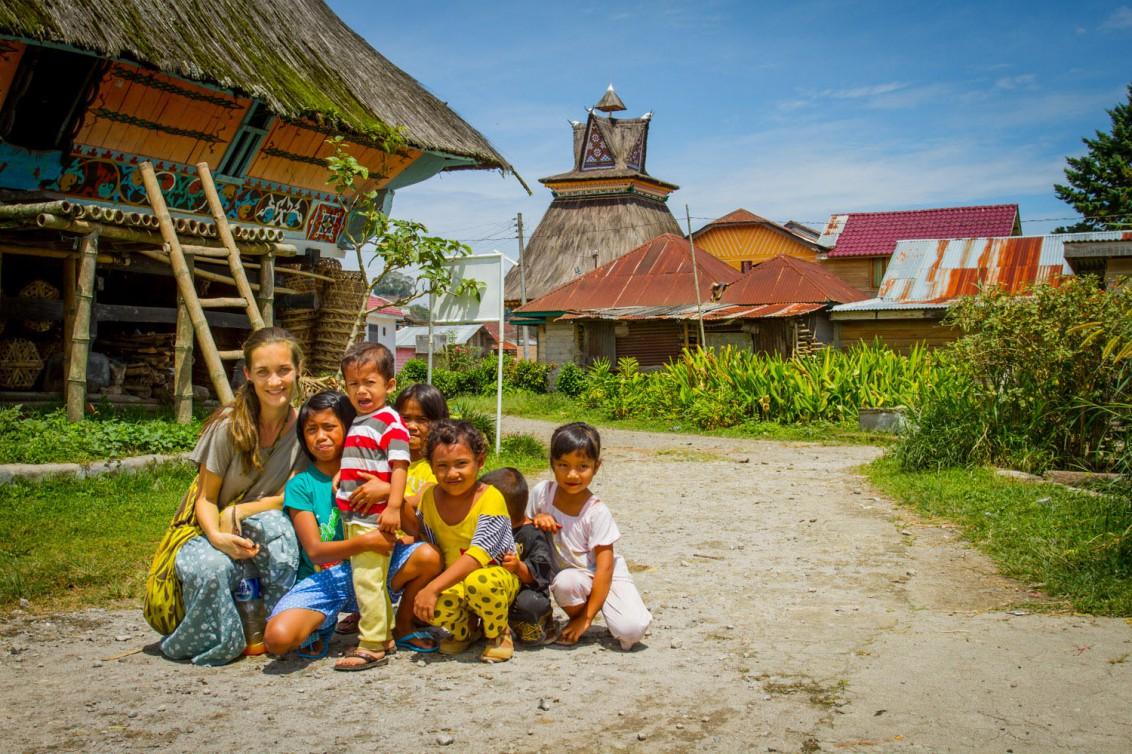 Einwohner im indonesischen Sumatra