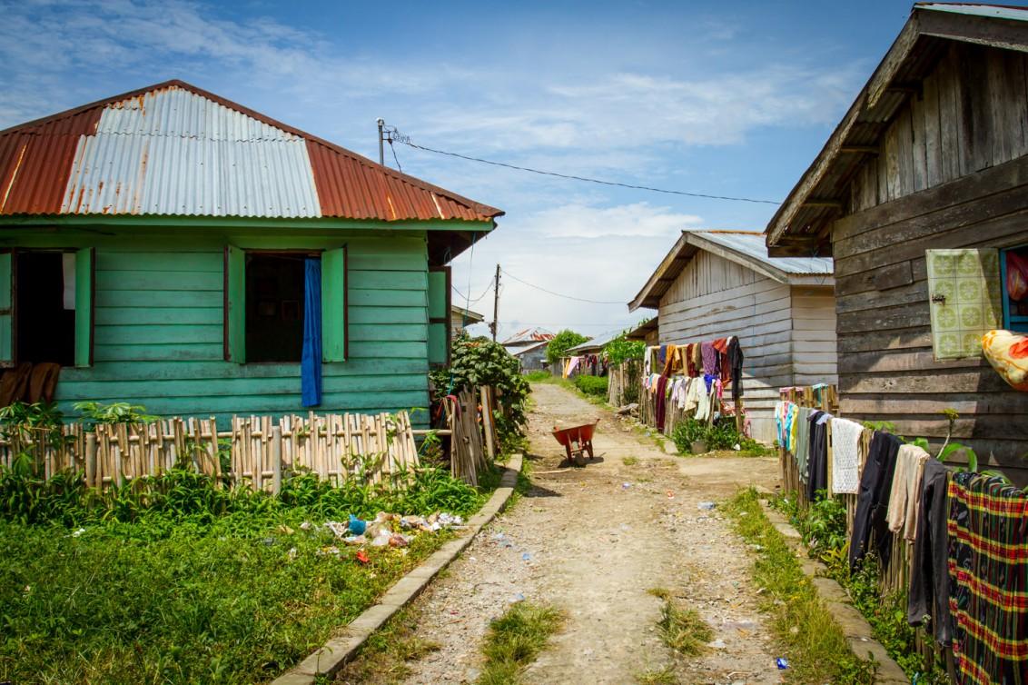 Berastagi Indonesien Dorf