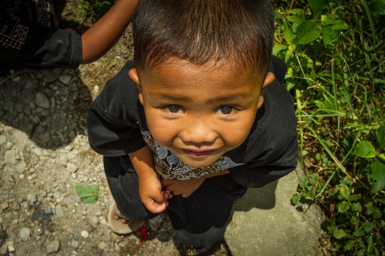 Indonesien Berastagi Einwohner