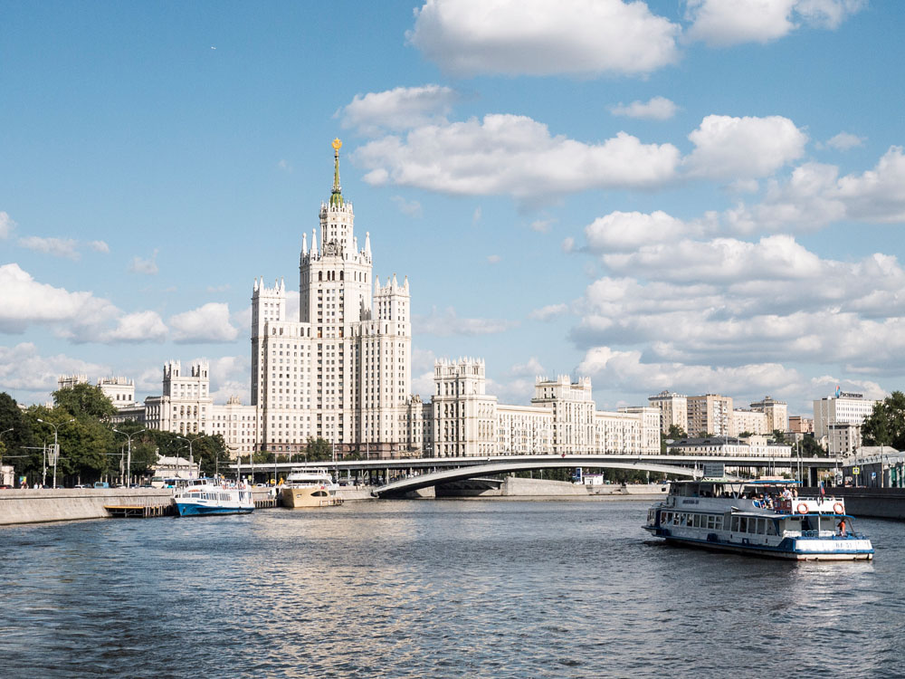 Moskau stalinistischer Zuckerbäckerstil