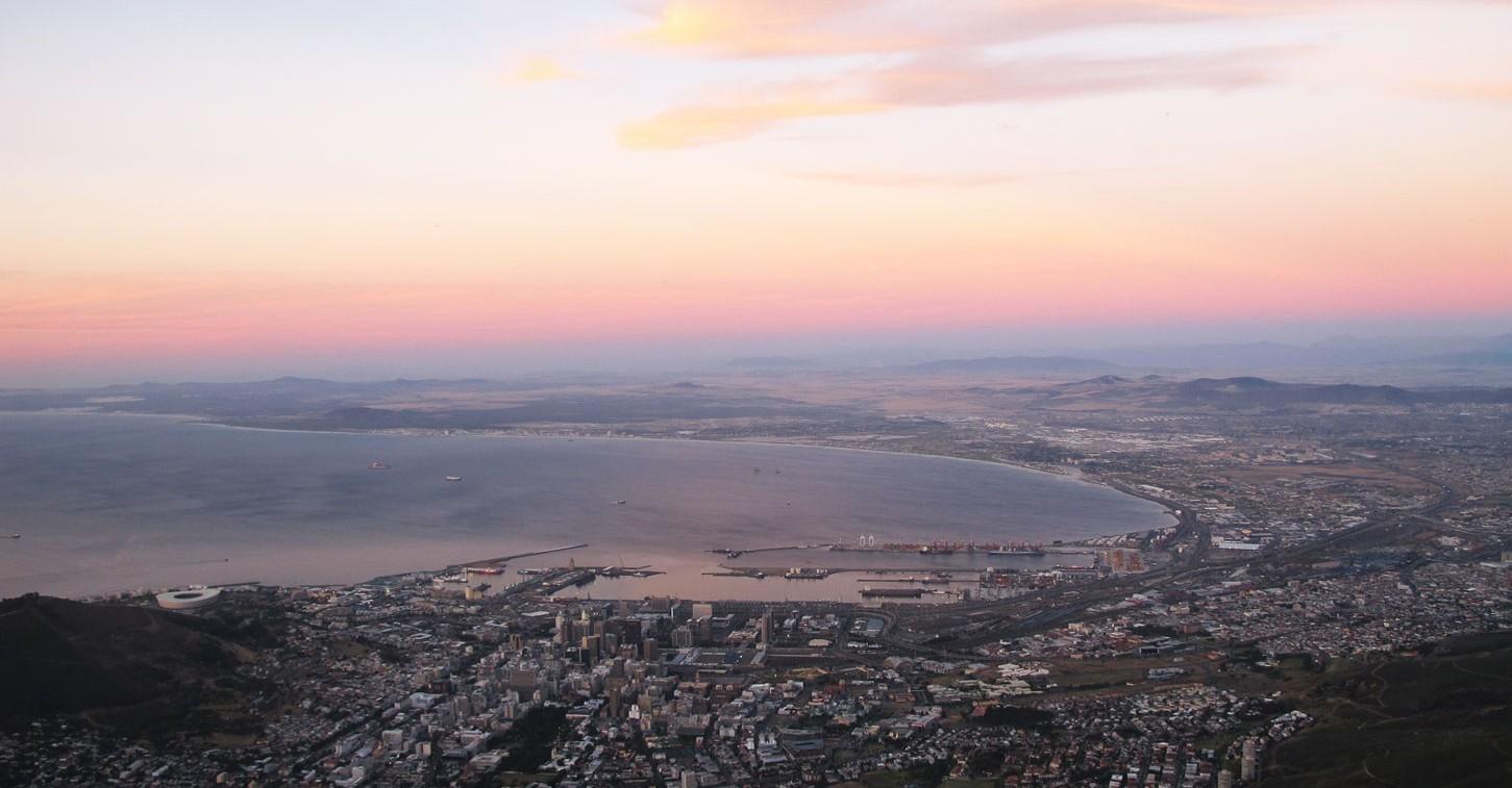 Blick-auf-Kapstadt-vom-Tafelberg