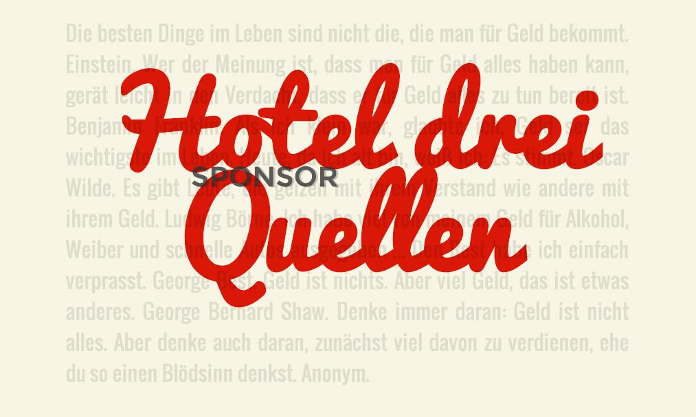 Sponsor Hoteldreiquellen