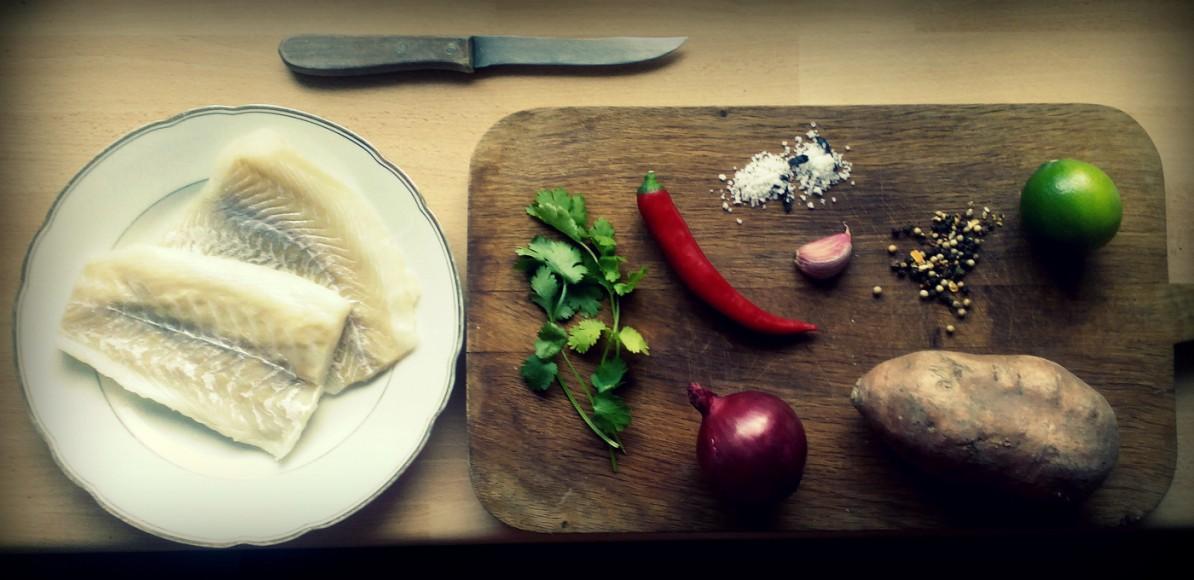 Ceviche Zutaten Fisch