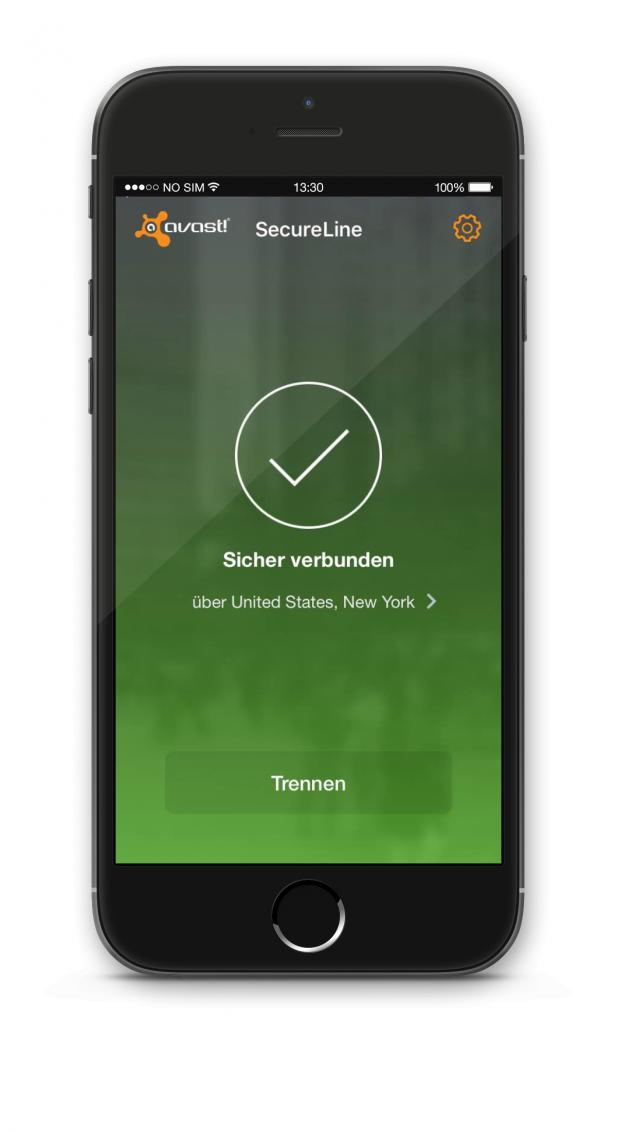 Avast SecureLine iOS verbunden NY